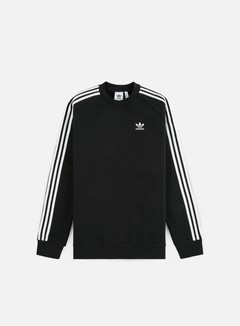 Adidas Originals - 3 Stripes Crewneck, Black