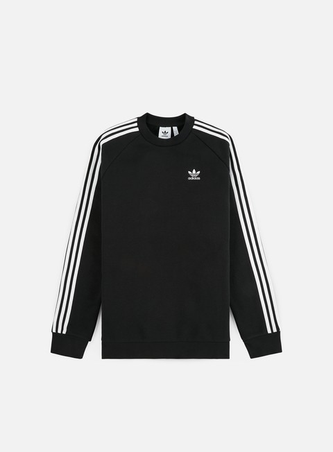 Outlet e Saldi Felpe Girocollo Adidas Originals 3 Stripes Crewneck