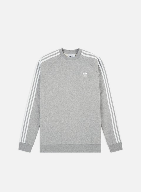 Outlet e Saldi Felpe Girocollo Adidas Originals 3-Stripes Crewneck