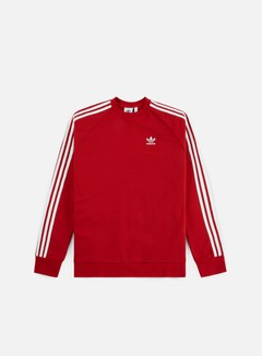Adidas Originals - 3 Stripes Crewneck, Power Red