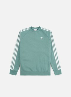Adidas Originals - 3 Stripes Crewneck, Vapour Steel