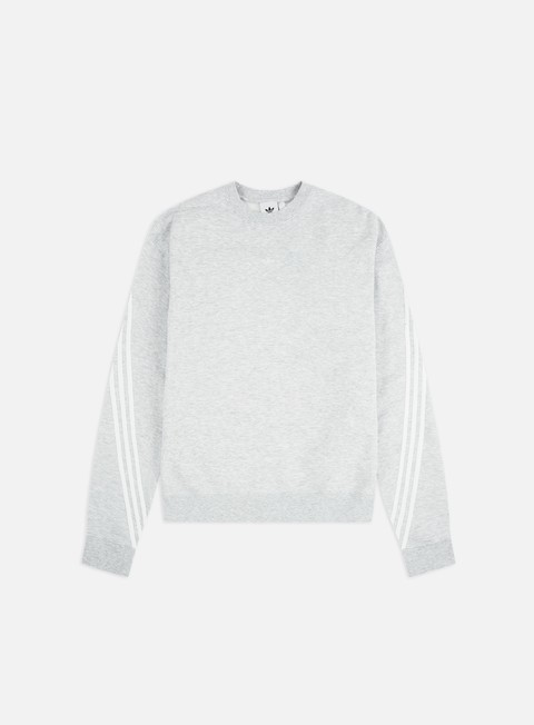 Crewneck Sweatshirts Adidas Originals 3stripe Wrap Crewneck