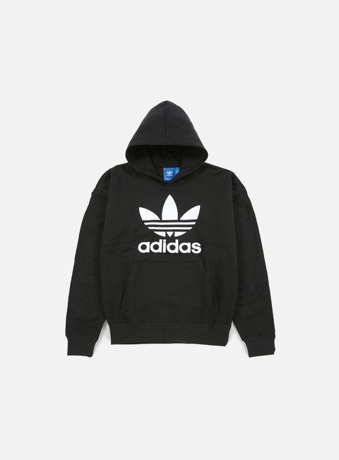 felpe adidas originals adc fashion hoodie black white