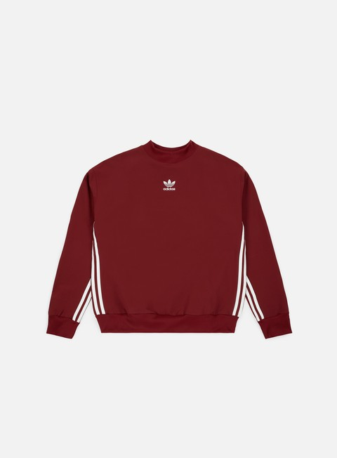 felpe adidas originals auth stripe crewneck noble maroon noble maroon