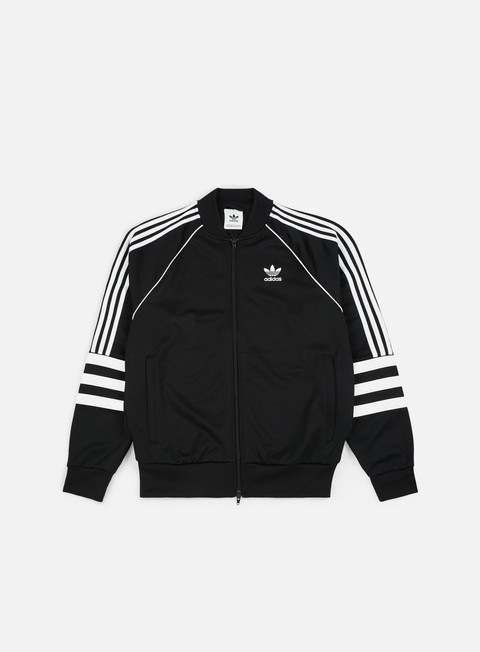 felpe adidas originals auth track top black white