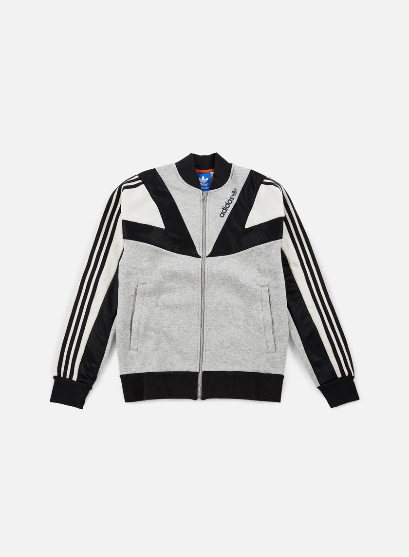 Adidas Originals - Basketball Track Top, Medium Grey Heather/Talc/Black
