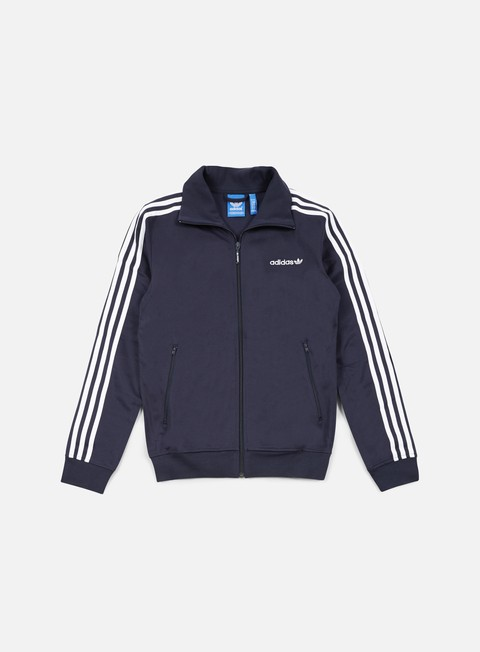 felpe adidas originals beckenbauer track top legend ink white