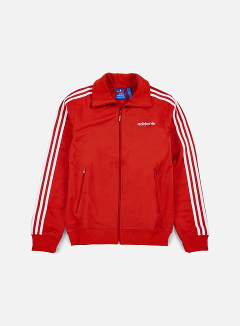 felpe adidas originals beckenbauer track top lush red