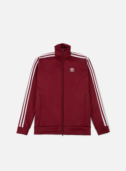 felpe adidas originals beckenbauer track top rust red