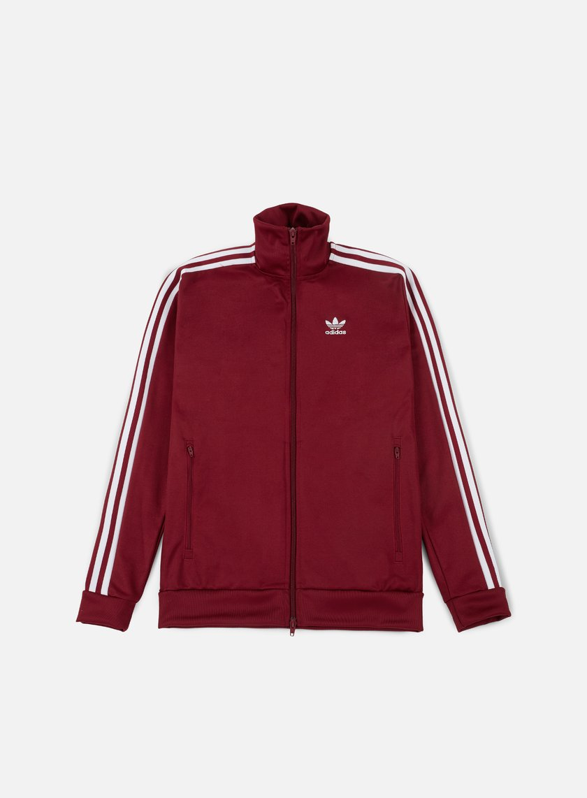 ... Adidas Originals - Beckenbauer Track Top, Rust Red 1 ...