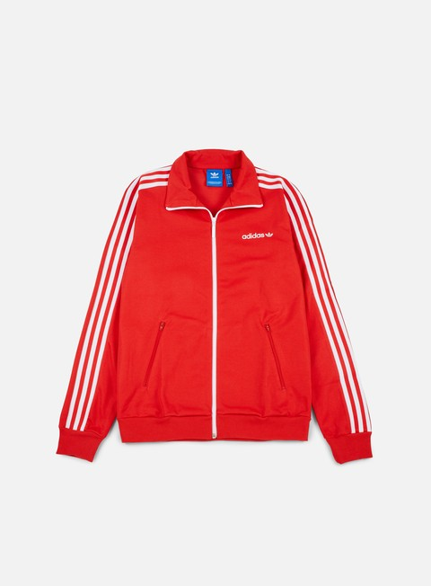 felpe adidas originals beckenbauer track top vivid red