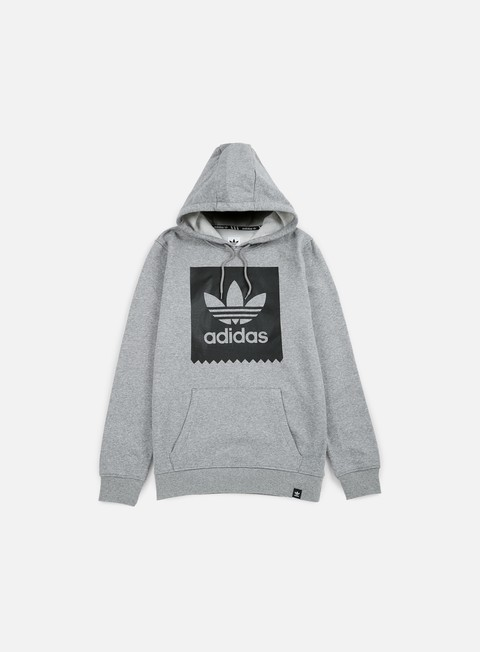 felpe adidas originals blackbird basic hoodie core heather black