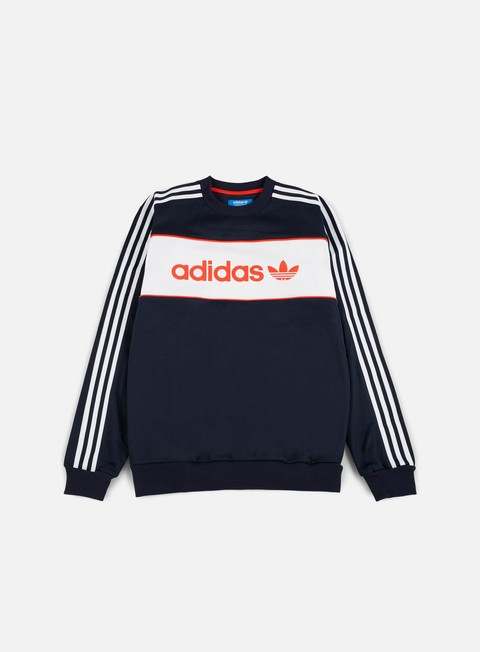 felpe adidas originals block crewneck legend ink