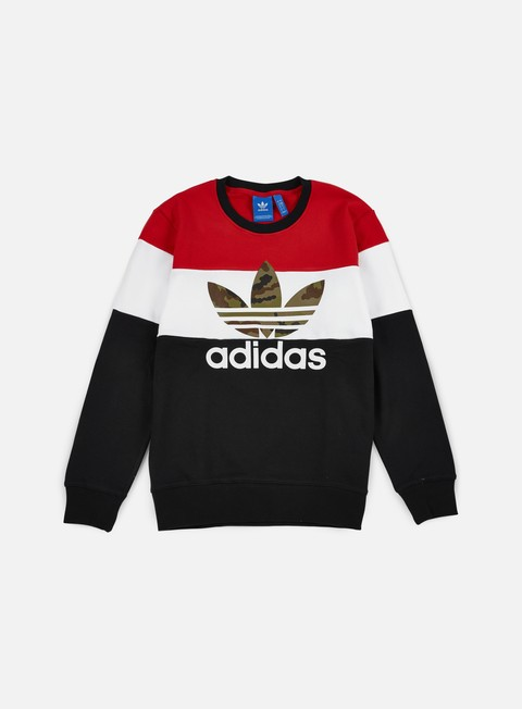 felpe adidas originals block it out crewneck black