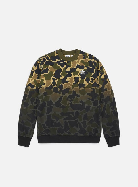 felpe adidas originals camo crewneck multicolor