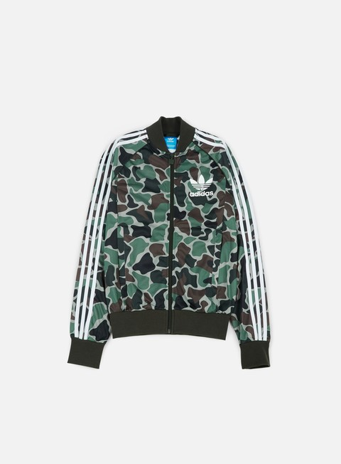 Zip Sweatshirts Adidas Originals Camouflage SST Track Top