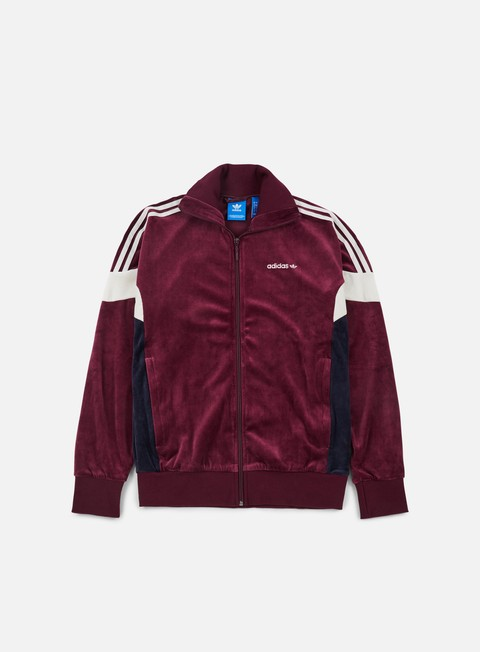 felpe adidas originals challenger track jacket maroon