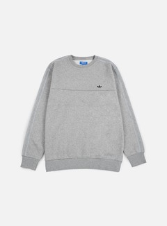 Adidas Originals - Classic Trefoil Crewneck, Medium Grey Heather 1