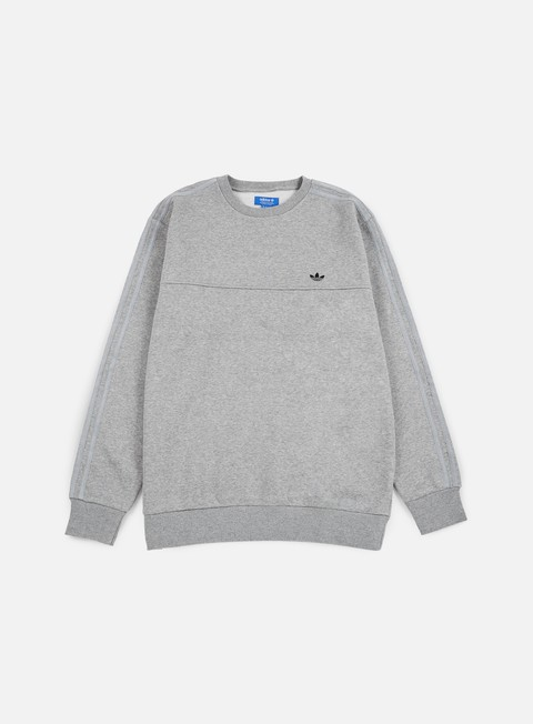 felpe adidas originals classic trefoil crewneck medium grey heather