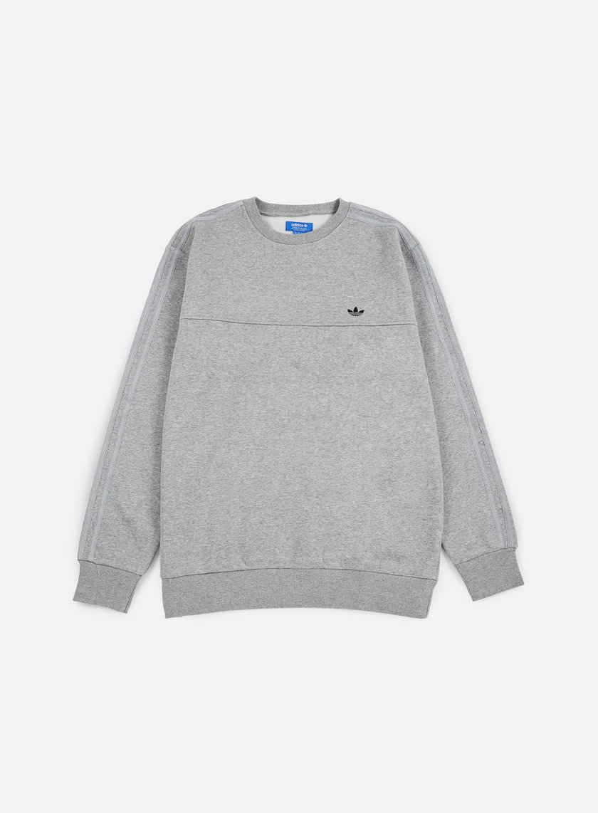 Adidas Originals - Classic Trefoil Crewneck, Medium Grey Heather