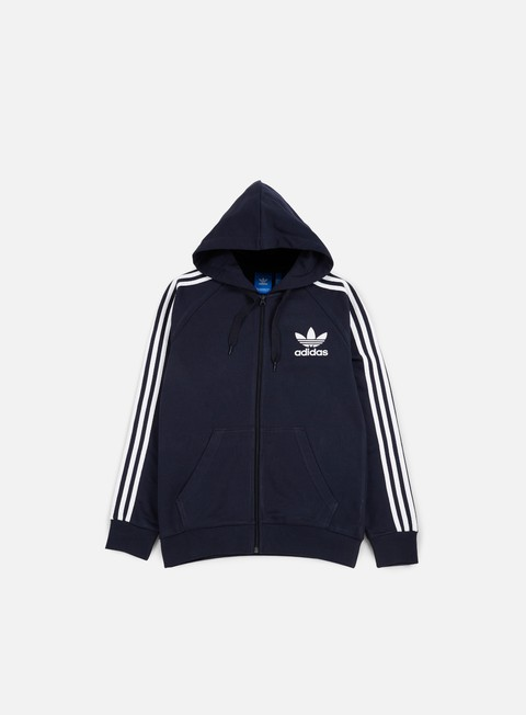 felpe adidas originals clfn zip hoodie legend ink