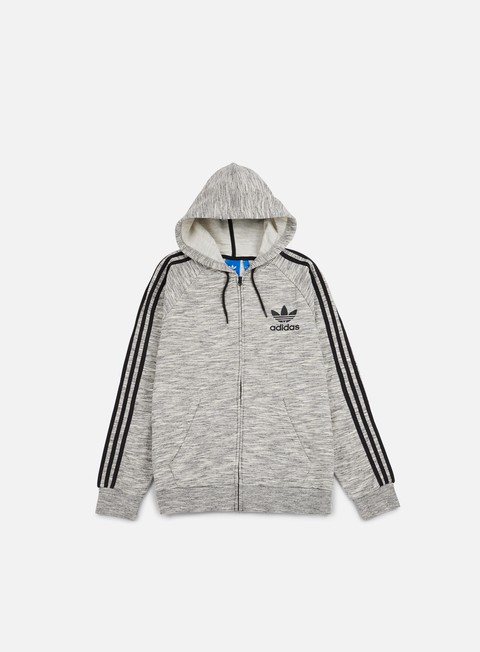 felpe adidas originals clfn zip hoodie medium grey heather