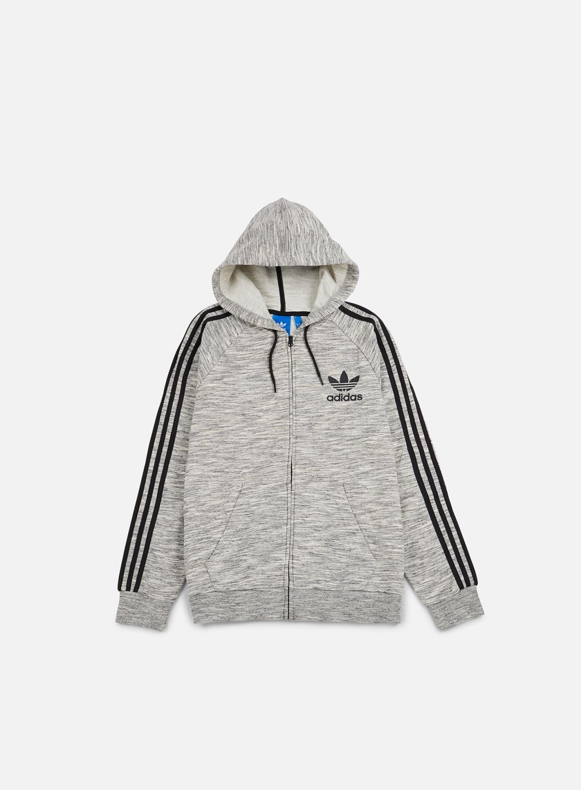 Adidas Originals - CLFN Zip Hoodie, Medium Grey Heather