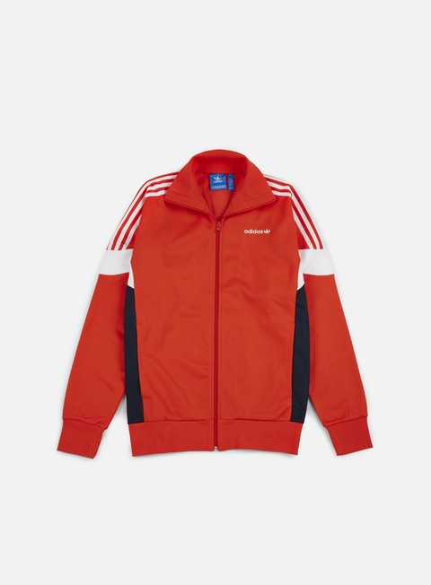 felpe adidas originals clr84 track top core red legend ink