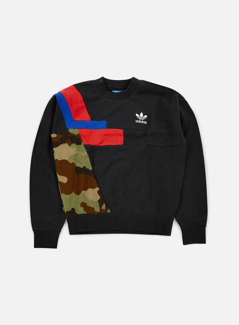 felpe adidas originals colorblock crewneck black