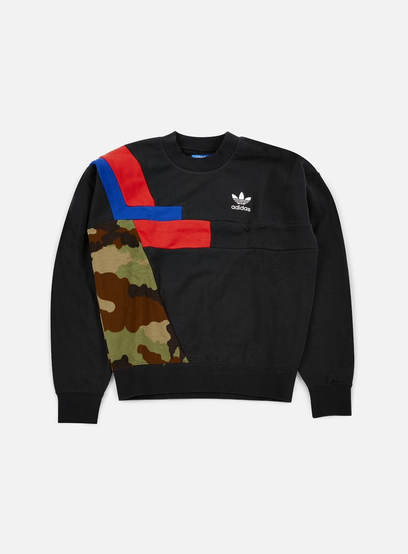 Adidas Originals - Colorblock Crewneck, Black