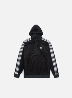 Adidas Originals - Cozy Half Zip Hoodie, Black