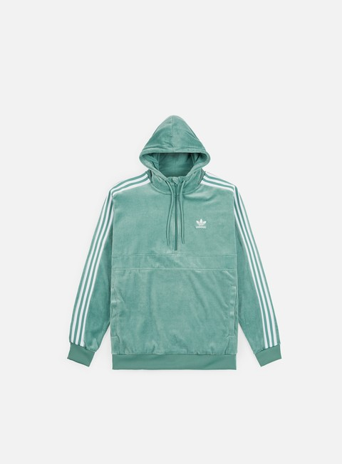 Hooded Sweatshirts Adidas Originals Cozy Half Zip Hoodie