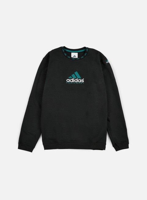 felpe adidas originals eqt crewneck black