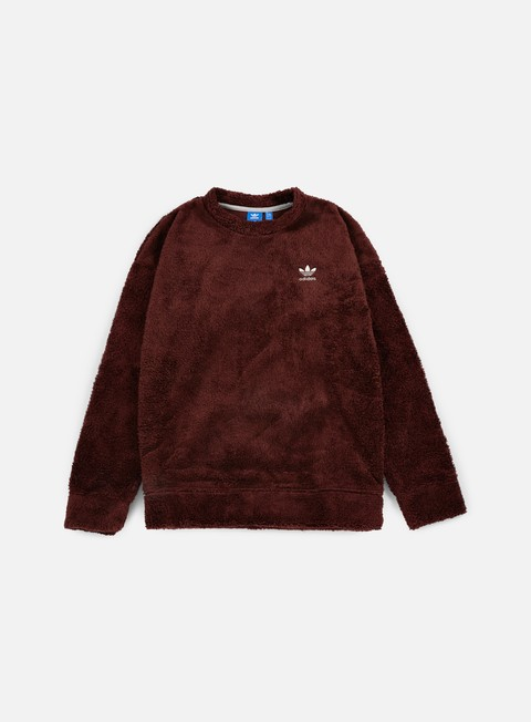 felpe adidas originals fallen future teddy crewneck mystery brown
