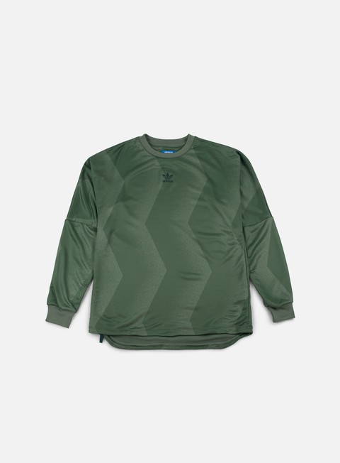 felpe adidas originals goalie nova crewneck trace green
