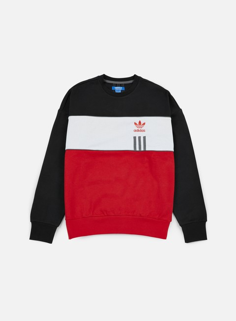felpe adidas originals id96 crewneck black