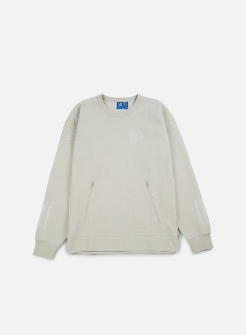 felpe adidas originals instinct crewneck clear brown