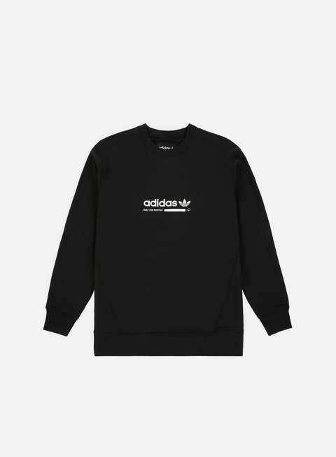 felpe adidas originals kaval crewneck black