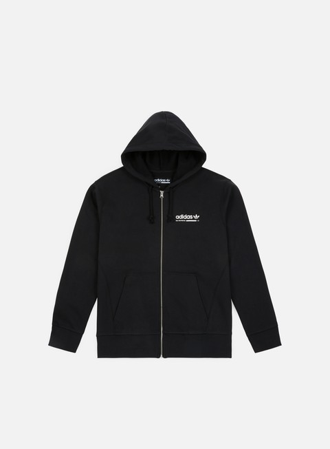 felpe adidas originals kaval full zip hoody black