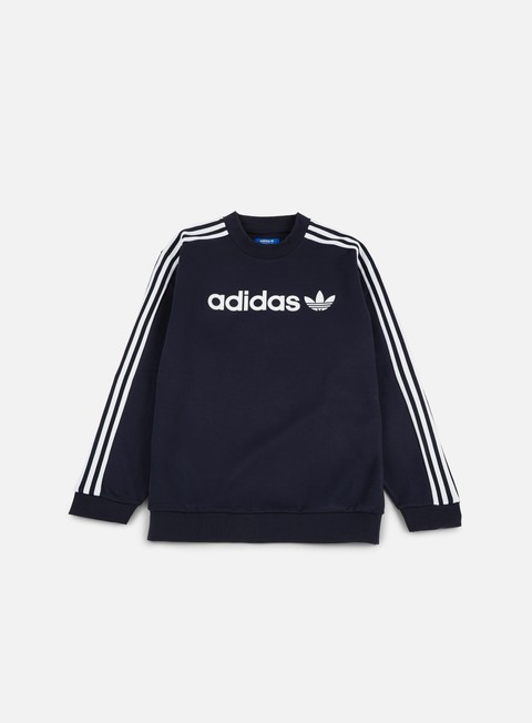 felpe adidas originals linear crewneck legend ink