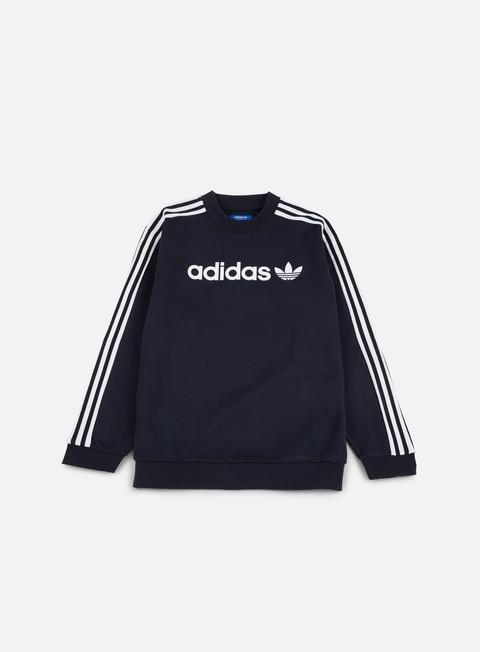 Bianca Girocollo Felpa Adidas Originals Linear ZOPkiXu