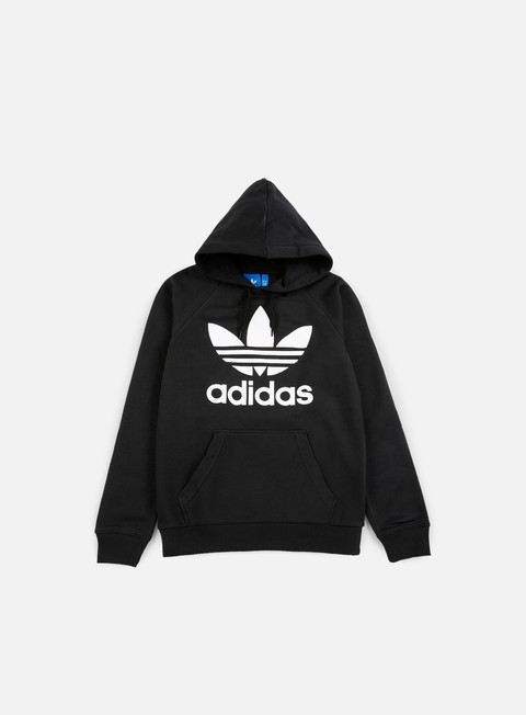 felpe adidas originals original trefoil hoodie black