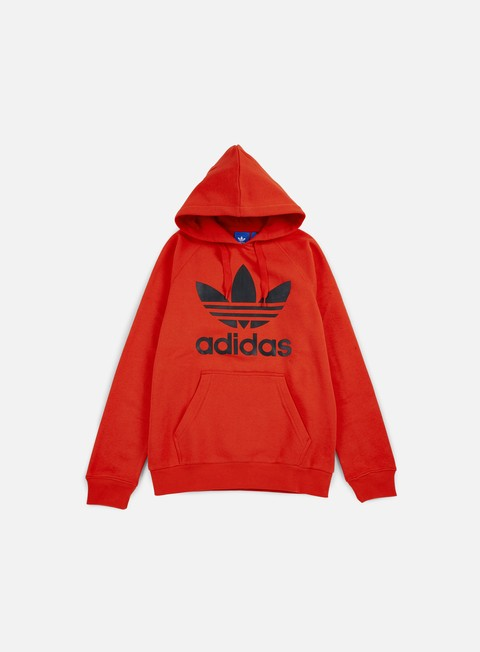 felpe adidas originals original trefoil hoodie coral red