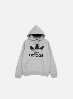 Adidas Originals - Original Trefoil Hoodie, Medium Grey Heather
