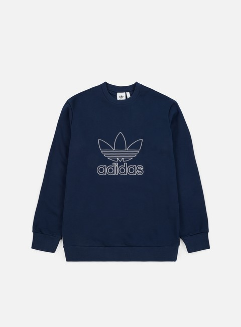 felpe adidas originals outline crewneck collegiate navy