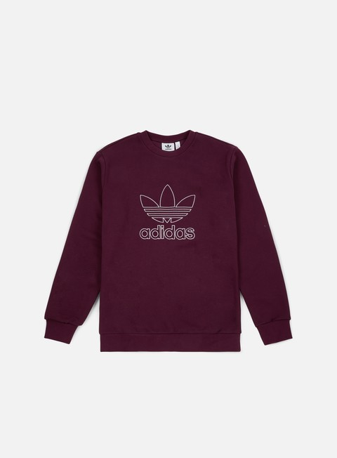 felpe adidas originals outline crewneck maroon