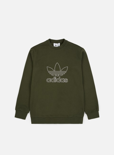 felpe adidas originals outline crewneck night cargo