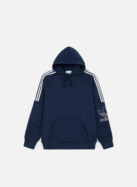 felpe adidas originals outline hoodie collegiate navy