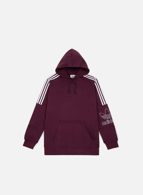 felpe adidas originals outline hoodie maroon