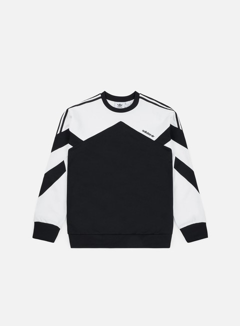 felpe adidas originals palmeston crewneck black white